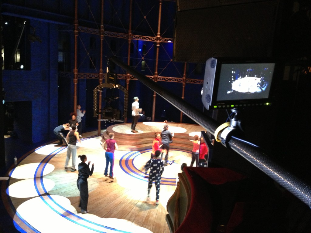 Polecam and 5D filming Viva Forever West End Show