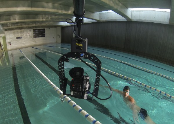 Polecam with C300 filming for Speedo