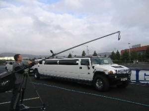 Polecam filming limos for UK strongest man