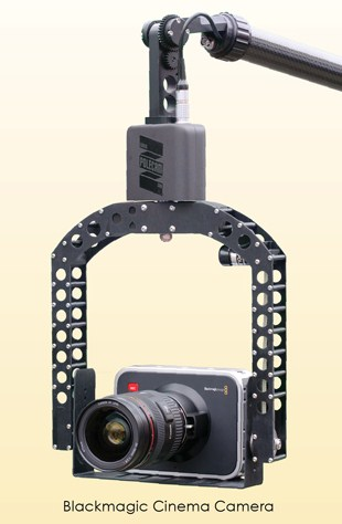 Black Magic Camera on Polecam